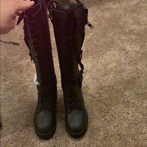Black kickass combat boots